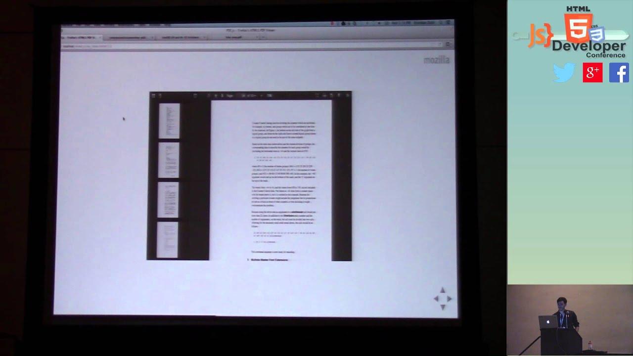HTML5DevConf: Brendan Dahl PDF js - Firefox's HTML5 PDF Viewer by  HTML5DevConf & IoTaconf