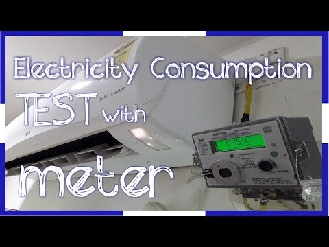 Electricity Consumption test with meter | watt,ampere,unit?? | LG dual inverter AC