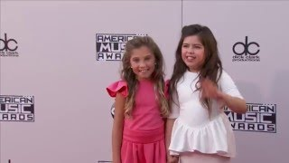 Rosie McClelland & Sophia Grace Brownlee Red Carpet Fashion   AMAs 2015