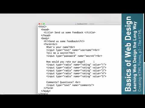 Learn HTML: HTML Forms, P1 - HTML Elements