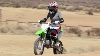 Crashing Kawasaki KLX 140 Motorcycles and Off-Road Riding - The J-Turn Episode 5