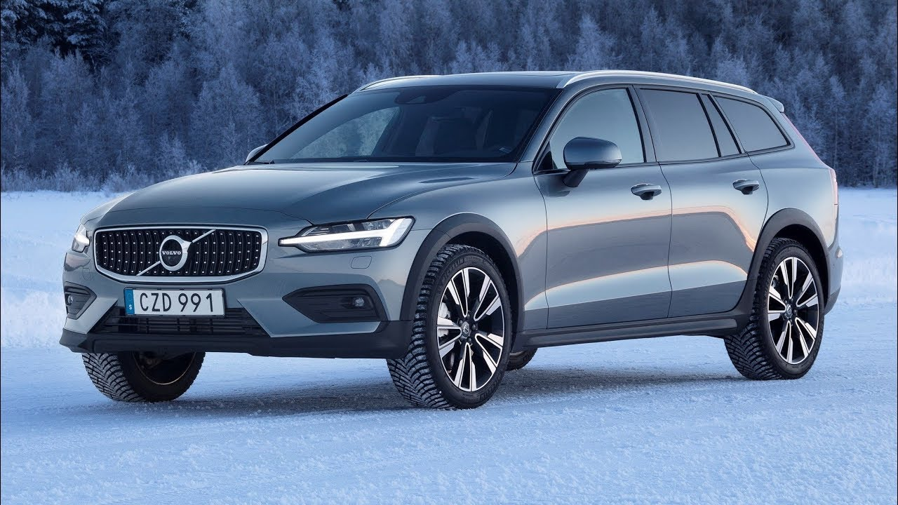 2019 Volvo V60 Cross Country T5 AWD | Ice and Snow Test Driving - YouTube