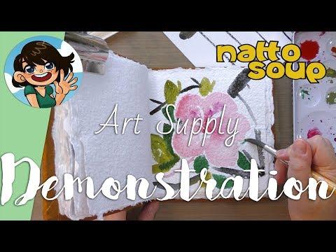 Global Arts Handbook Handmade Watercolor Journal