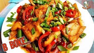 Нежнейшие кальмары с овощами и двумя соусами. Готовим в ВОКе