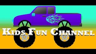 Monster Trucks for Children - The Purple Monster Truck!