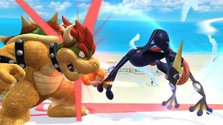 Top 10 Greninja Shadow Sneaks - Super Smash Bros for Wii U