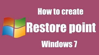 How to create a system restore point on windows 7