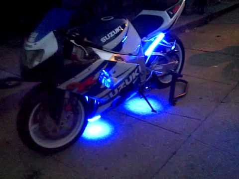 Suzuki Gsxr 600 >> suzuki GSXR 750 sick light kit - YouTube