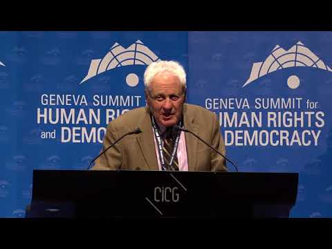 Amb. Alfred H. Moses at Geneva Summit 2018
