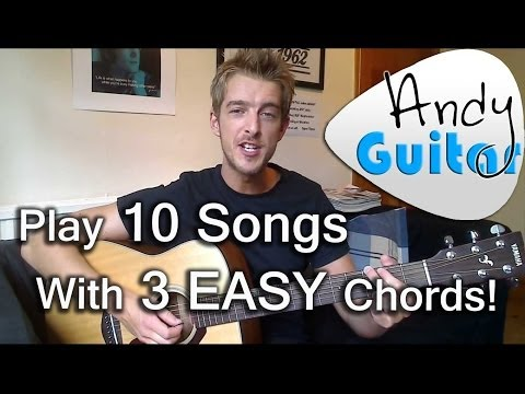 Play TEN songs with three EASY chords G A and D| Beginners guitar lesson