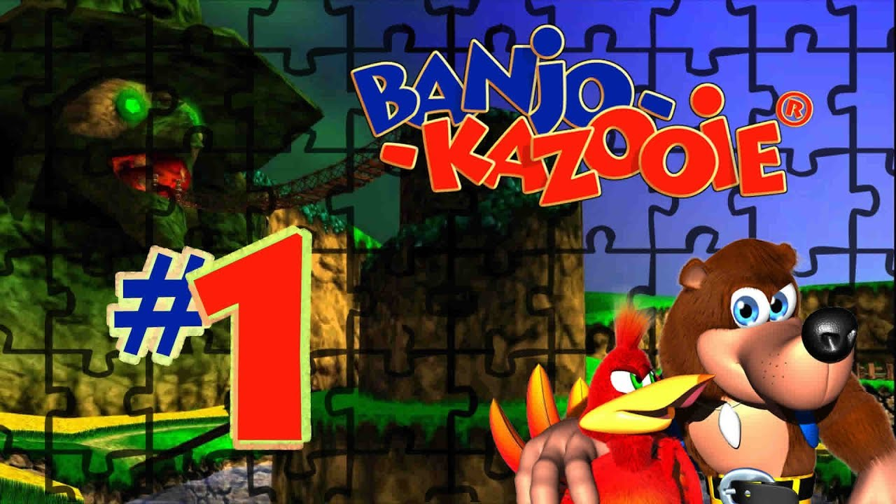 Banjo Kazooie Walkthrough Part1 Game Intro Spiral