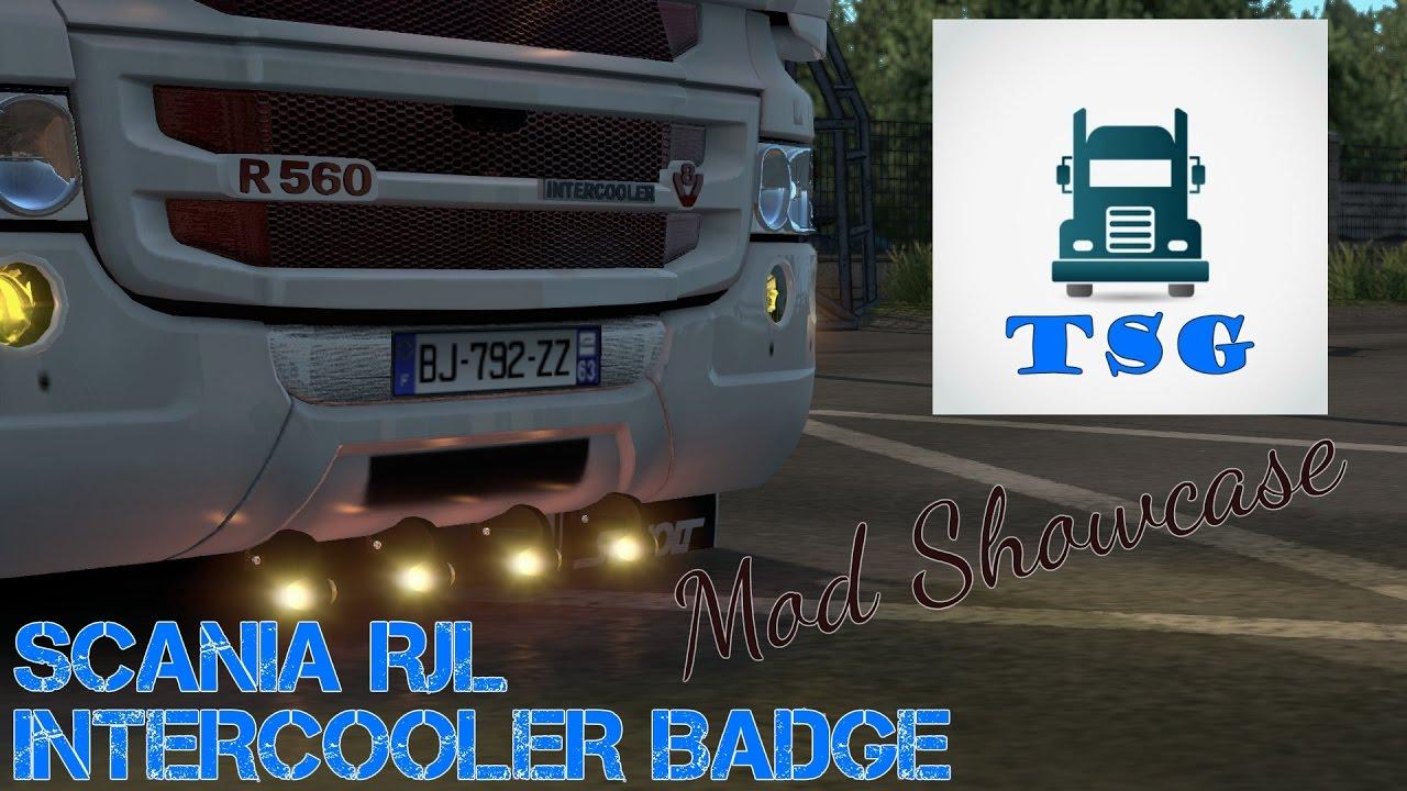 Mod Showcase Scania Rjl Intercooler Badge Link In