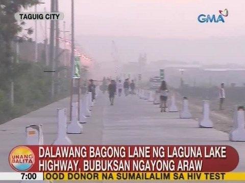 UB: Dalawang bagong lane ng Laguna Lake Highway, bubuksan ngayong Huwebes - YouTube