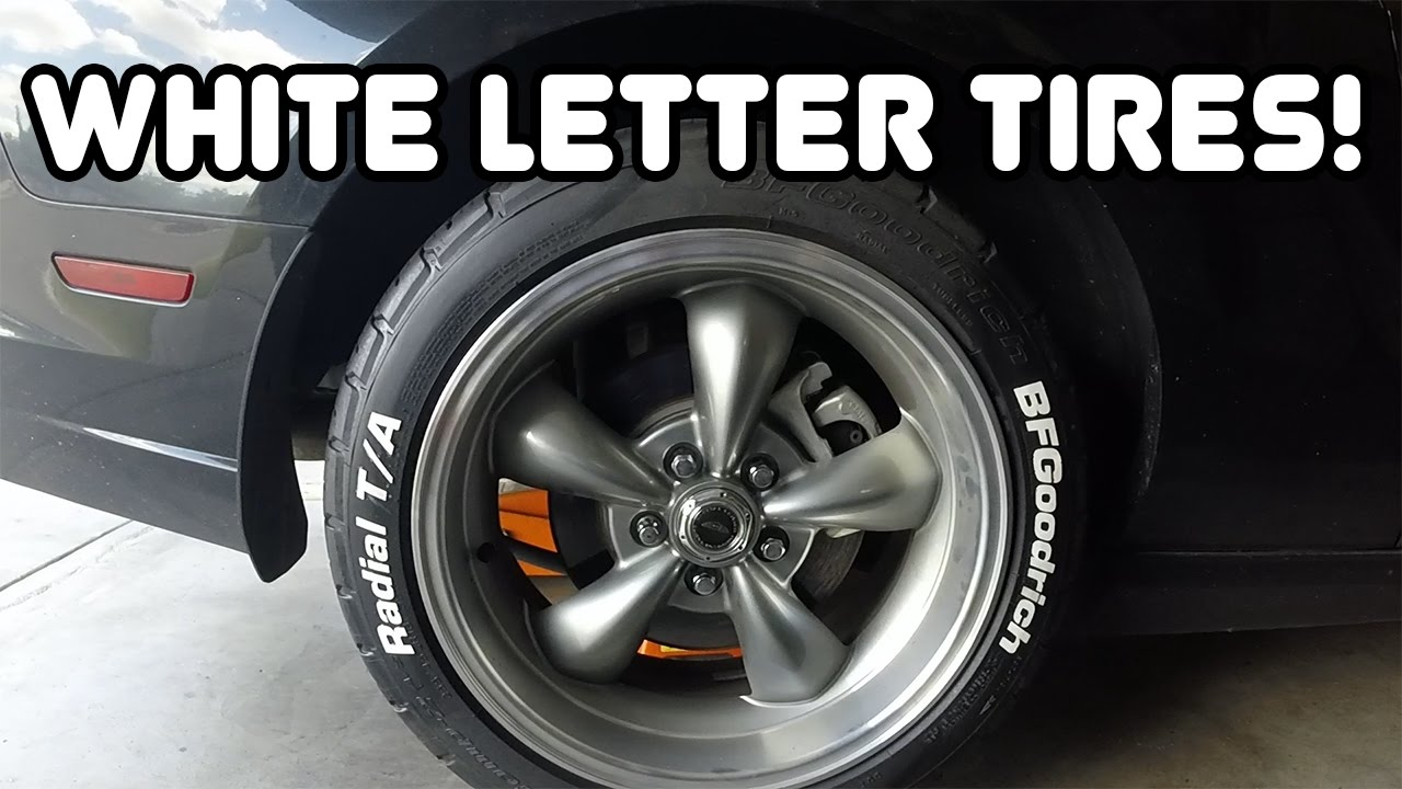 White Letter Tires On 2013 Mustang Youtube
