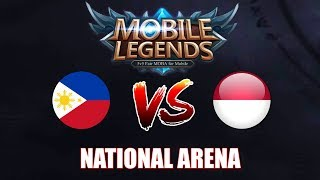 Philippines vs Indonesia National Arena | Mobile legends Season 9