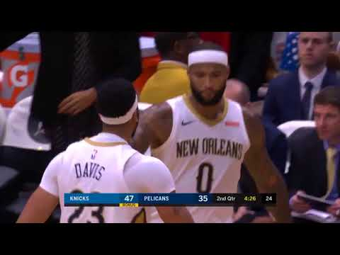 Anthony Davis Throws Down A Massive Dunk On Ron Baker