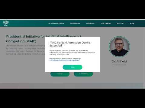 How can Apply PIAIC, How can Select AI, Blockchain & Cloud Native