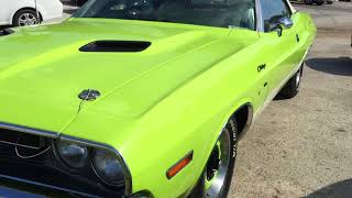 Classic Dodge Challenger Full Restoration Lime Green Muscle Car - STREET RIDES TV
