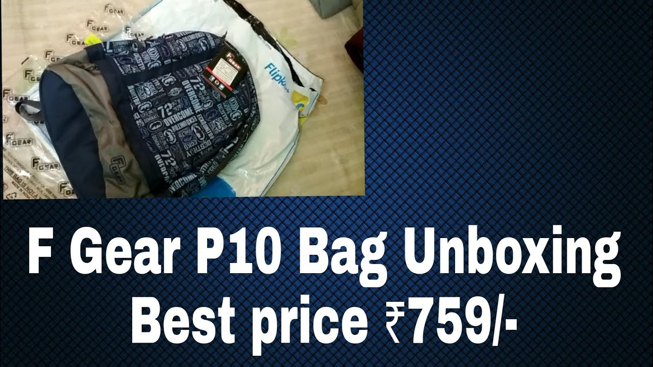 F Gear burner P10 bag unboxing.... - YouTube 2e97524d22