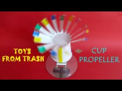 Cup Propeller | English | Beautiful used paper cup propellor