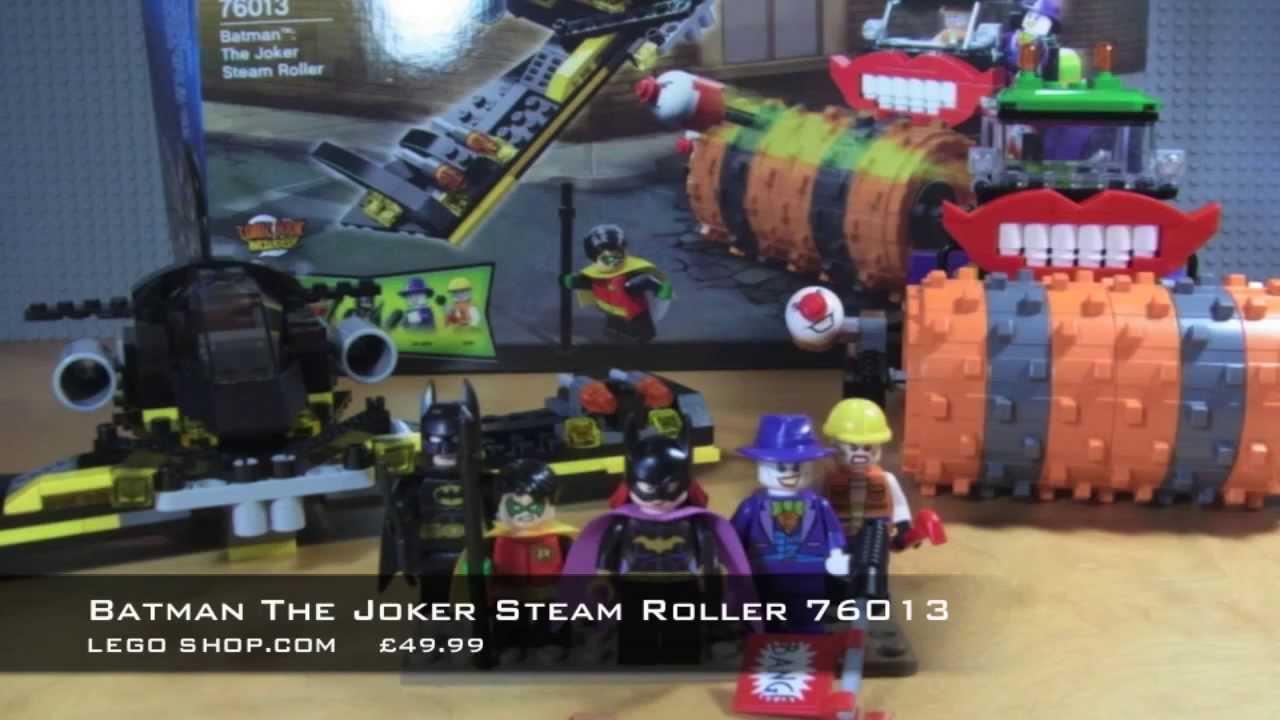 lego joker steamroller 76013 review speed build youtube. Black Bedroom Furniture Sets. Home Design Ideas