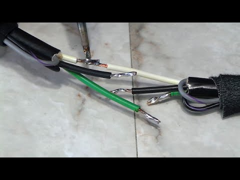 Repairing a damaged EV charging cable.