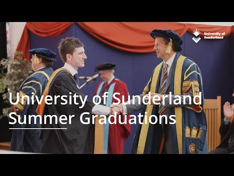 University of Sunderland Graduation Ceremony - Thursday 7th July 9:30am