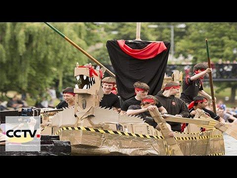 Une course de bateaux-dragons organisée à Cambridge