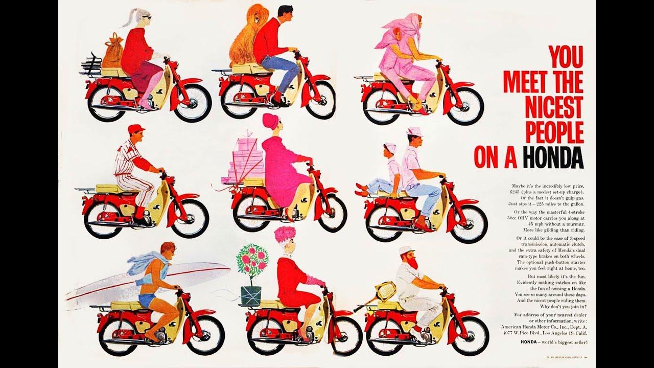 Vintage Honda Super Cub Print Ads