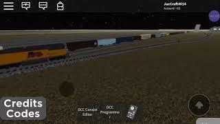 Roblox manifest train departs Ro-scale yard. (SST Nevada and Arizona ro scale layout)