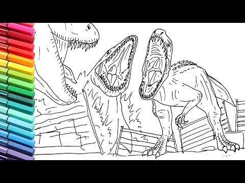 Coloriage Jurassic World Mosasaurus.Drawing And Coloring Indominus Rex Vs Mosasaur Vs T Rex