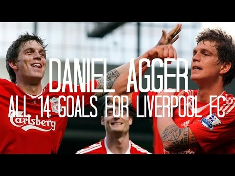 Daniel Agger - All 14 Goals for Liverpool FC - 2006/2014 - English Commentary (Just Goals)