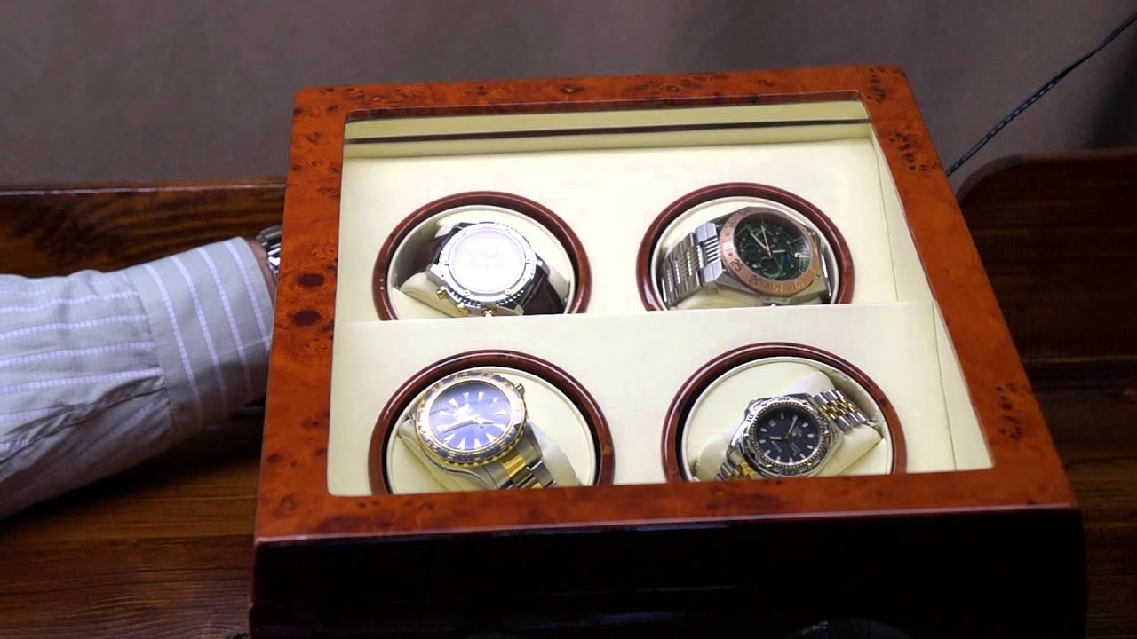 Dual watch winder | steinhausen dual automatic watch winder.
