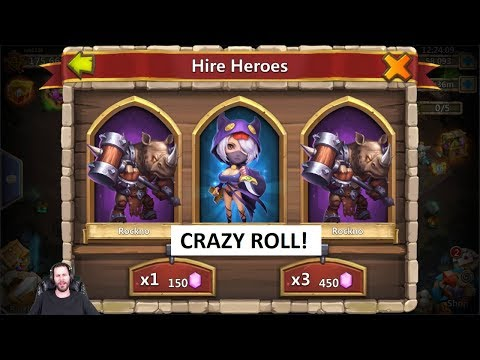 Rolling 100,000 Gems For Dove KEEPER Jeb 175k ONETIME Castle Clash