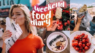WEEKEND FOOD DIARY - Sushi, Eis, Streetfood Market [Vlog Style] // JustSayEleanor