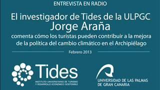 Jorge Araña, Cómo los turistas pueden contribuir a la mejora de la política del cambio climático