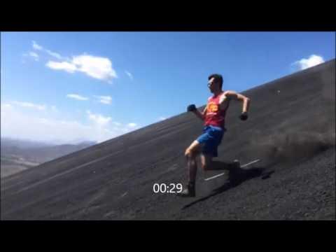 Fastest sprint down Cerro Negro volcano