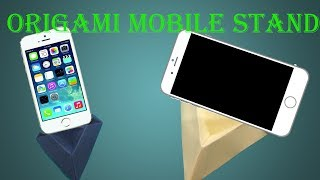 How To Make Origami Mobile Stand - Easy Tutorials; Homemade Paper Mobile Stand