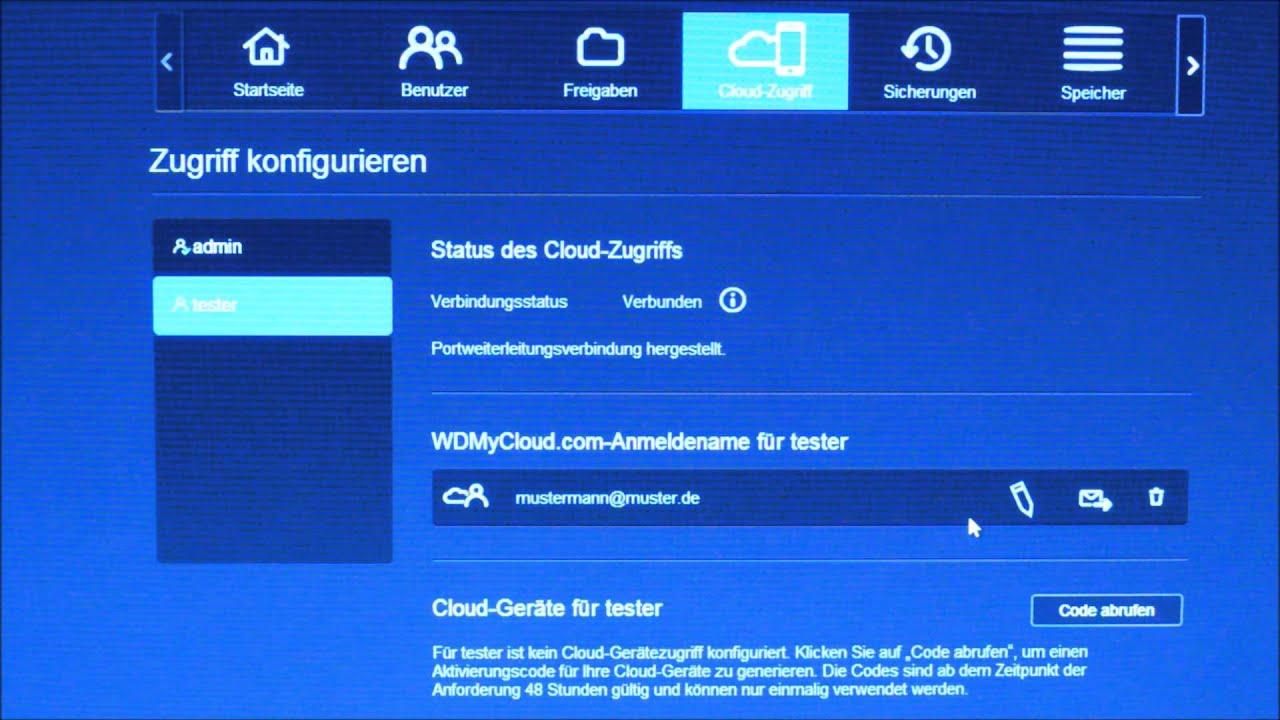Einrichten des Cloud Zugriffs auf mein WD My Cloud EX 9