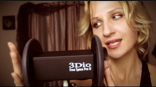 incredible sound 3dio mic test asmr ear cupping sticky fingers ear cleaning fluffy touch