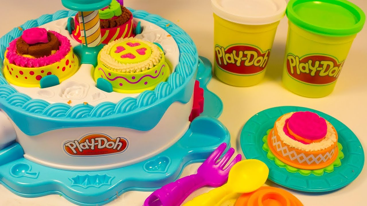 Play Doh Cake Makin  Station Bakery Playset Decorate Cakes ...