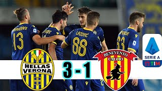 Hellas Verona VS Benevento 3 1 ITALY SERIE A RESULTS FULL GOAL 2020 2021 NEWS AND GOAL