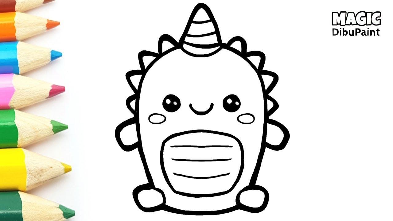 Dibujos Kawaii Cómo Dibujar Dinosaurios Fáciles Para Niños Youtube