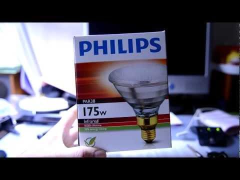 PHILIPS PAR 38 175W E27 IR Infrared lamp 5000Hours 30% Energy Saving 220-240V