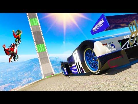 GTA 5 NEW STUNT DLC RACES - UNBELIEVABLE CUSTOM GTA V STUNT RACES (GTA 5 STUNT)
