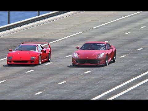 Ferrari 812 Superfast Vs Ferrari F40 - TOP SPEED BATTLE