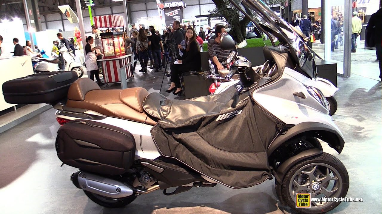 2015 piaggio mp3 business 300 lt scooter - walkaround - 2014 eicma