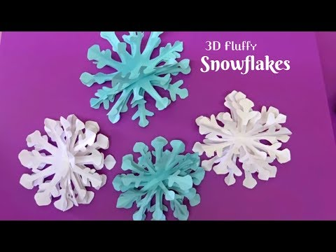 How To Make 3d Paper Snowflake Step By Step