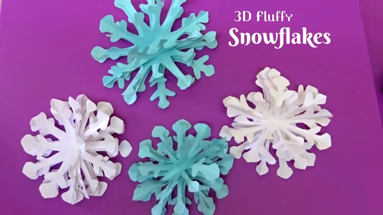how to make a 3d paper snowflake step by step