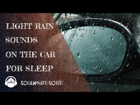 Light Rain Sounds On Car To Feel Relaxed And Fall Asleep Easier
